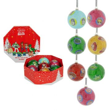 DISNEY TOY STORY SET OF 7 BAUBLES PRE ORDER